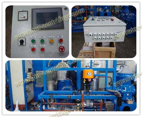 LO Selfcleaning Marine Fuel Oil Handling System Disc Separator for Power Station